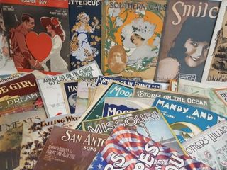 Antique Sheet Music Lot 2