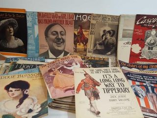 Antique Sheet Music Lot 4