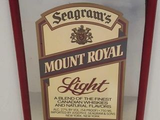 Seagram's Bar Mirror