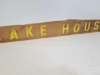 Hand Painted Lake House Sign