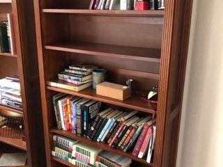 (2) Matching approximate six foot bookcases