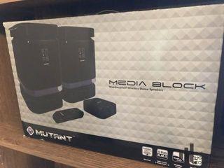 Media Block Stereo Speakers