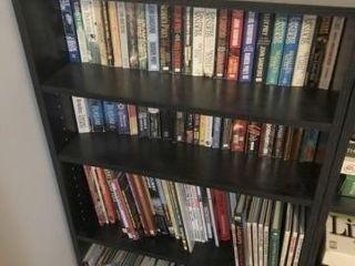 Black 4 Shelf Storage Cabinet