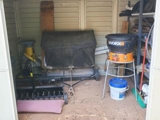 contents of shed - lawn care items