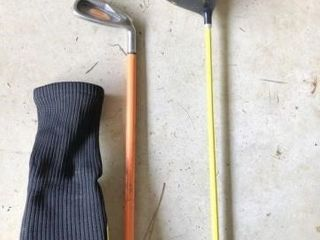 Weighted Driver with swing trainer 8 iron