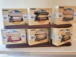 Corgi Model Cars and Display Shelf