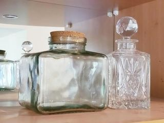 Glass Decanter and Jar