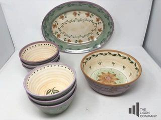 Julie Ingleman Designs Platter and Bowls