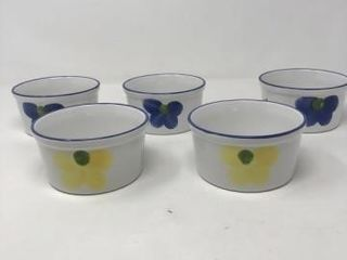 Set of 5 Hand Painted Bowls