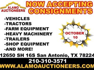 Alamo Auctioneers monthly auction 10/10/20