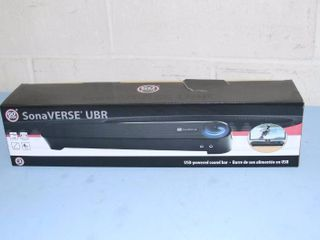 New! Go Groove SonaVERSE UBR Low Profile USB Powered Computer Sound Bar Soundbar Speaker System