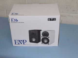New in Box! PAIR of EMP Model E3B White Bookshelf Audio Speakers