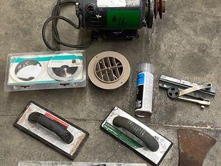 Assorted Hand Tools, Sink Drain Set, Sears 1HP Motor