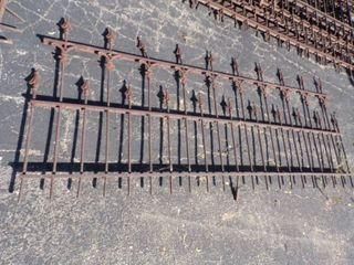 Antique Vintage Ornate Wrought Iron Fence