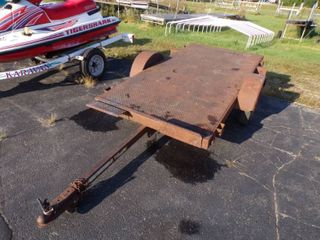 4' x 8' Tilt Bed Steel Trailer