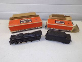 Vintage Lionel Locomotive #2026 and Whistle Tender #6466WX with Boxes
