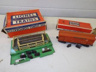 Vintage Lionel Operating Cattle Car #3656 and Station