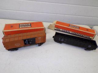 Vintage Lionel New York City Box Car #3464 and Gondola Car #6462