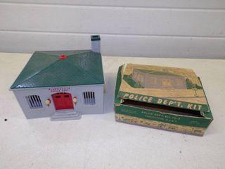 Vintage Plasticville Train Police Dept with Box