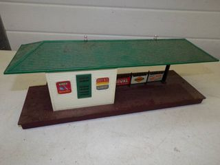 Vintage Plasticville Station with Advertising