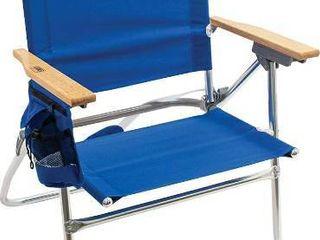 Rio Gear Beach Hi Boy High Seat 17 5  Folding Beach Chair  Blue