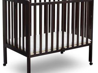 Delta Children Folding Portable Mini Crib with Mattress Espresso  POSSIBlY MISSING HARDWARE