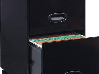 lorell SOHO Mobile Cabinet  Black THREE DRAWERS
