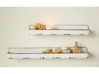Creative Co Op DA8541 White Wall Shelves  NO HARDWARE