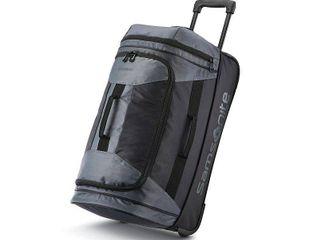 Samsonite Andante 2 Drop Bottom Wheeled Rolling Duffel Bag  Riverrock Black  22 Inch