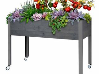 CedarCraft Elevated Spruce Planter 21x47x32 H  Dark Gray