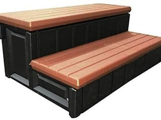 leisure Accents 36  Storage Black SPA Step  Redwood