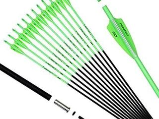 12pcs 30in Archery Practice Arrows