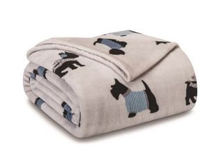 FUll QUEEN WARM DOGGIES GREY WINTER PlUSH BlANKET
