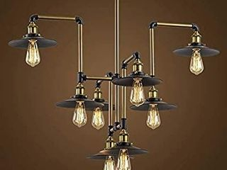 Industrial Splendid 8 lights 40  large Bronze Chandelier