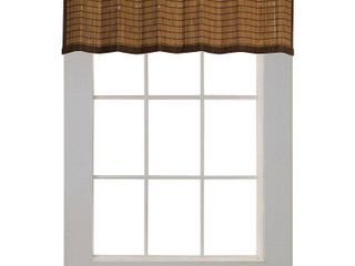 Versailles Bamboo Ring Top Window Valance   Colonial  48x12