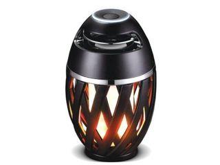 lEXFlAMESPBK IP65 Bluetooth Speaker lED Flame Effect light with Stand   USB Charging