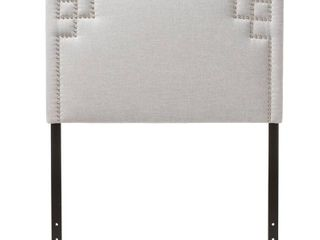 Baxton Studio Aubrey Modern and Contemporary Upholstered Headboard  Queen   Gray Beige