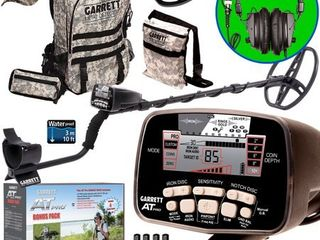 Garrett AT PRO Metal Detector Bonus Pack with Headphones  Backpack  Pouch  Hat and Searchcoil Cover
