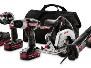 Craftsman 19 2 Volt lithium li Ion Combo Kit Drill Driver Sawzall Circular Saw 11404X Retail   215 79