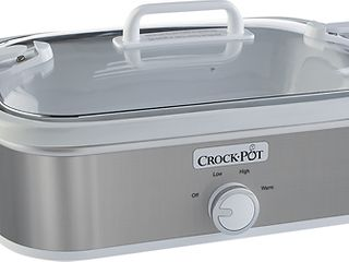 Crock Pot   3 5 Quart Slow Cooker   Stainless Steel White