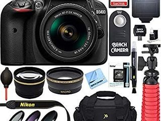 Nikon D3400 18 55 VR Kit 100 Anniversary Camera Kit With Tripod  Storage  Cleaning Kit  and Many More Accessories Retail   449 00