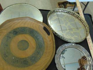 serving tray   mirror dresser trays