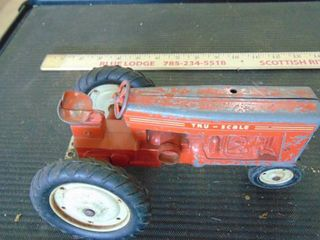 metal Tru scale tractor toy