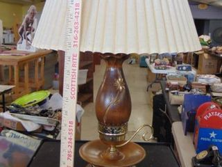 wood lamp w shade