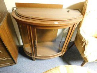 half size curio cabinet