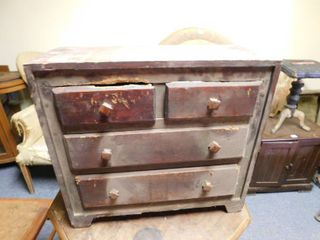small wooden tool chest   mini dresser