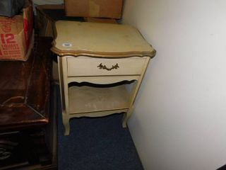 Old white side table w drawer