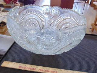 large cut glass punch bowl