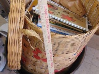 wicker basket w calendars