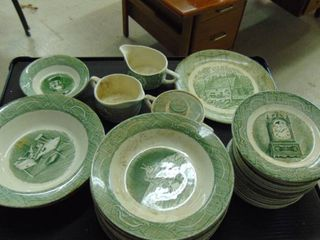 China   The Old Curiosity shop   Made in USA   green and white